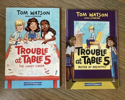 Like new! 2 Softcover Books in the Trouble at Table 5 Series