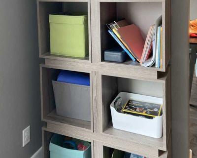 Dark taupe Cube Bookcase
