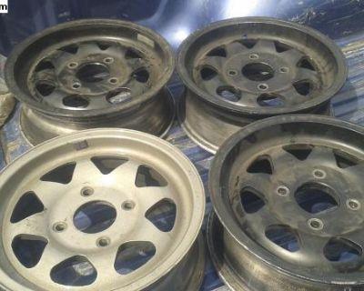 Mcafee style 4 lug Gurney Western wheels rim
