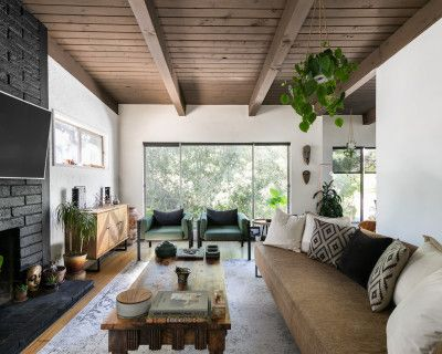 Wondrous Sun-Drenched & Vegetation Filled Designer Treehouse in the Hollywood Hills, Los Angeles, CA