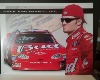 New! Dale Earnhardt JR. Monte Carlo Bud Racing Tin Sign