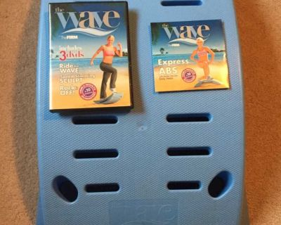 The Firm Wave Step Board w/3 dvd set-Ride the wave, speed slimming sculpt, Rock it off & express abs (weight limit 275)