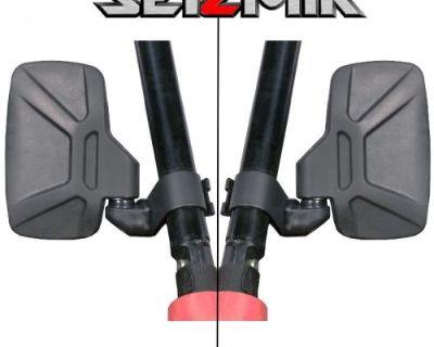 Seizmik Break-away Side Mirrors - Arctic Cat Polaris Kawasaki John Deere - 18080