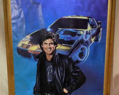 Vintage 1982 Knight Rider David Hasselhoff And KITT poster 28 x 20
