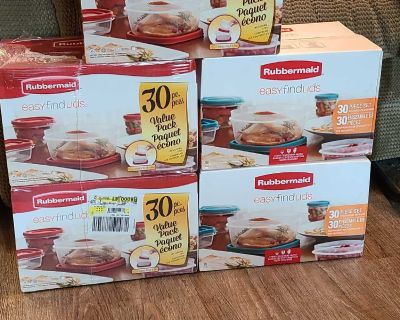 BNIB Rubbermaid food storage containers