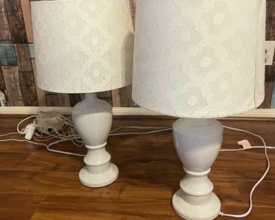 Pair of matching White Lamps