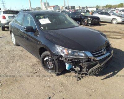 Salvage Black 2015 Honda Accord Sedan