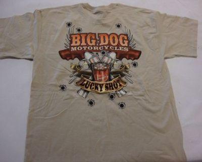 Big Dog Motorcycle 3x-large Shirt Lucky Shot Front & Back Design Cowboy Design