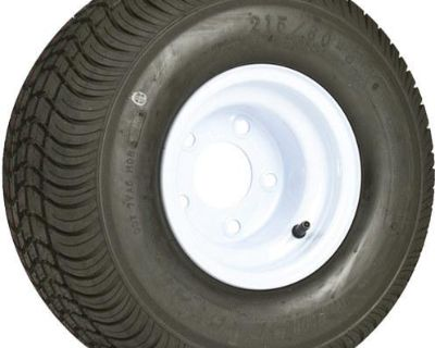 "8"" White Trailer Wheel-18.5x8.50-8-tire+rim-215/60-8 (wheel-8w)"