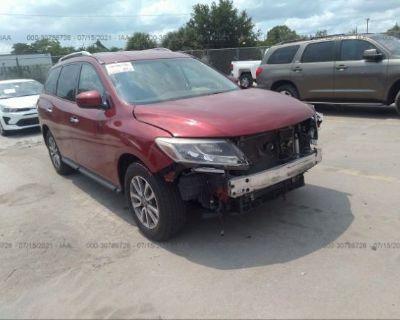 Salvage Red 2015 Nissan Pathfinder
