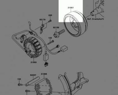 2010 Kawasaki Klx250s Oem Generator: Magneto Rotor