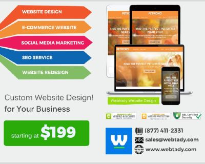 High Quality Professional Website Design $199 5 Star Customer Review