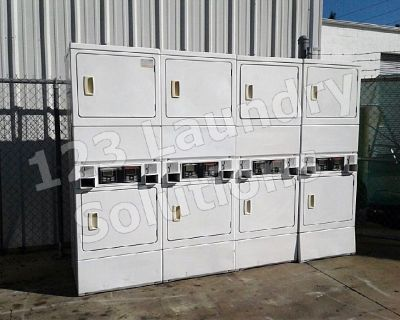 Heavy Duty Double Stack Dryer Speed Queen Model Number: SSG509WF (White) Used