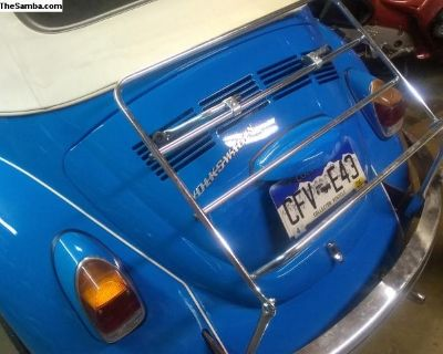 Chrome plated decklid rack Free shipping