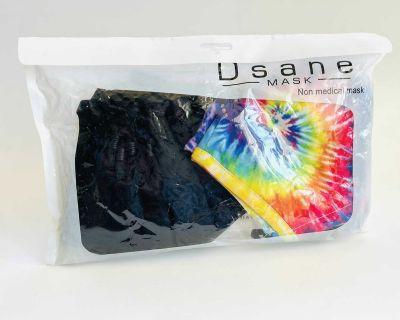New Usane 6 Piece Mask Set 3 Tye Die 3 Black