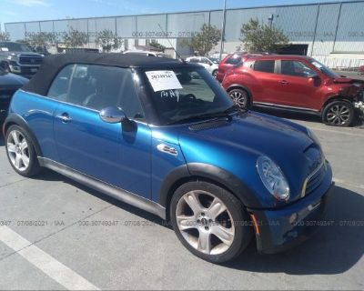 Salvage Blue 2006 Mini Cooper Convertible