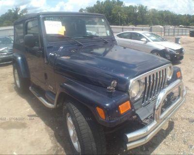 Salvage Blue 2006 Jeep Wrangler