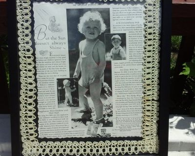 Vintage Saturday Evening Post Advertisement ads for Canned Milk Baby Framed Picture