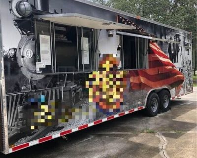 Fully-Loaded 2014 - 8' x 28' Barbecue Kitchen Food Trailer