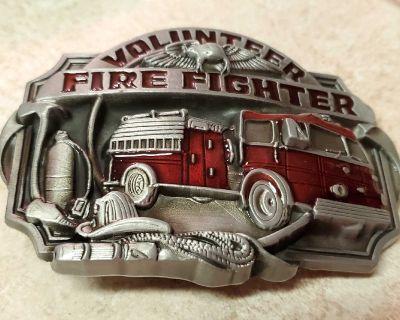 New volunteer Fire Fighter Fire Dept Firefighter belt buckle