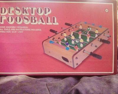 Desktop foosball table