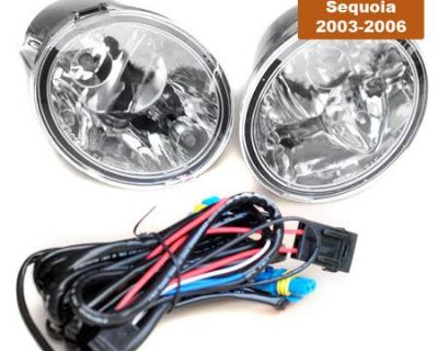 03-06 Toyota Tundra Oe Style Fog Lights Driving Light Kit W/harness Relay Switch