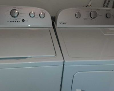 Less than 2 years old Whirlpool washer and dryer
