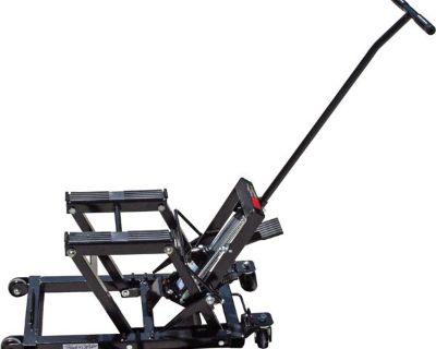 New Black Widow Motorcycle Jack + Atv Lift Stand Combo-1500# Hoist (bw-jack)