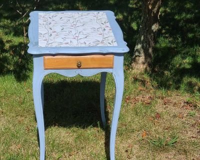Louis XV Style Upcycled Vintage End Table