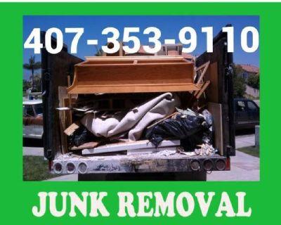 Junk Removal Trash Hauling  Debris Dumping Demolition Clean Out Landfill Dump Runner