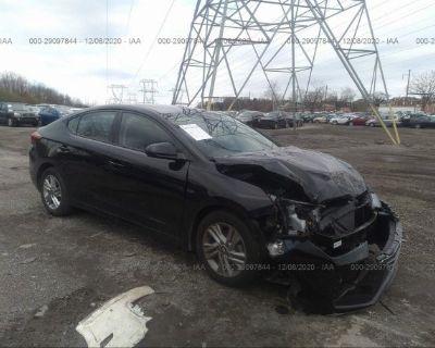Salvage Black 2020 Hyundai Elantra