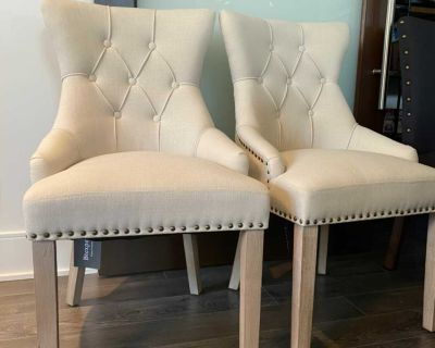 Solid Wood Accent Chair upholstery-Cream