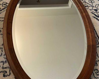 Gorgeous walnut mirror