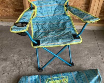Kid s Coleman camping chair & carry bag