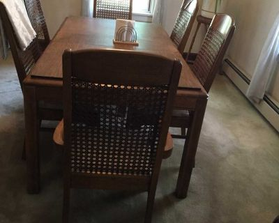 Dining room set table chairs and china closet