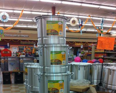 Tamale Pots/Steamers 5 pots per case 168 quarts