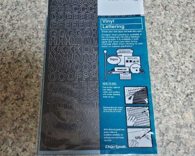 VINYL LETTERING, BRAND NEW NEVER BEEN OPENED, EXCELLENT CONDITION, SMOKE FREE HOUSE