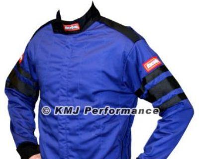 Racequip 111025 Large Blue Racing Driving Jacket Series 111 Two Piece Suit