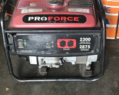 Used pro force 5.5 hp gas generator