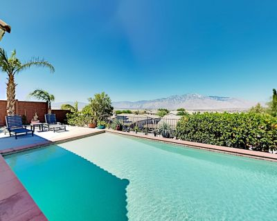 Mountain View Oasis | Hot Tub & Huge Private Pool, Fenced Patio, Game Room - Desert Hot Springs