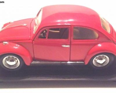 1967 VW Beetle, Red - 1/18th Scale Diecast Model