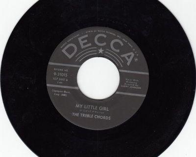 TREBLE CHORDS ~ My Little Girl*Mint-45 !