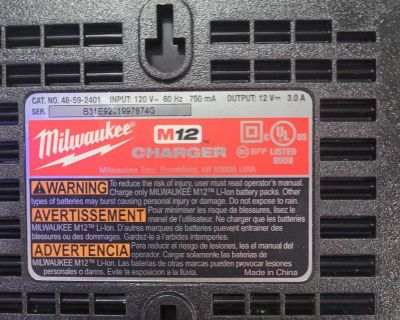 M12 12v lithium ion battery charger