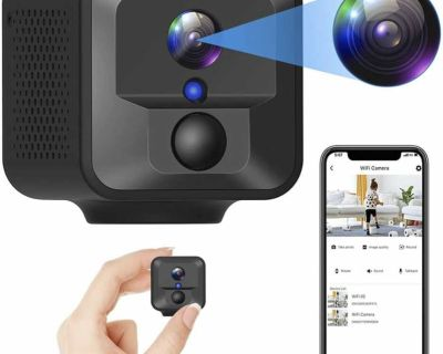 Wireless Mini Camera 1080P with App, Night Vision, PIR Motion Detection for Home Office Car Indoor or Outdoor