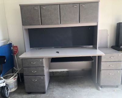 computer desk and drawers
