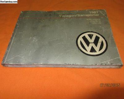 1987 vanagon owners manual