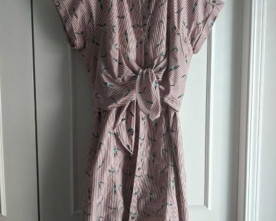 Anthropologie Maeve Swimmer Diver Pattern, Button-up Dress