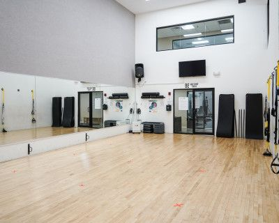 Fitness Studio with 8 TRX's along the wall., New Rochelle, NY
