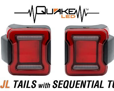 Quake LED Taillight (QTE1026) for JL Wrangler...Start Up Animation... Sequential Turn Signal...Plug'n'Play...No Dash Errors!