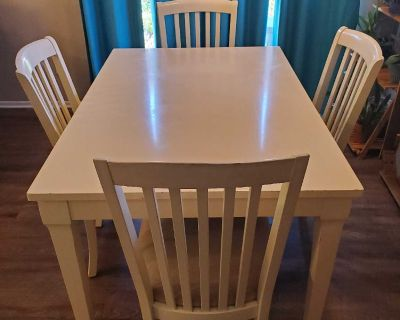 Dining Kitchen Game Table with 4 Chairs and Drawer
